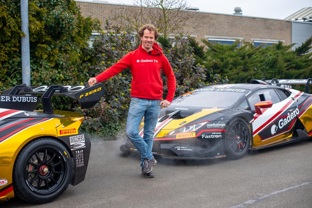 Henk Jan met de Lamborghini's
