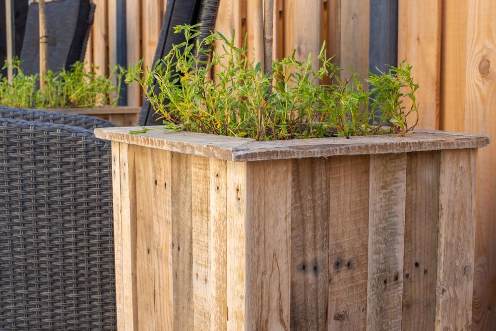 Plantenbak pallets