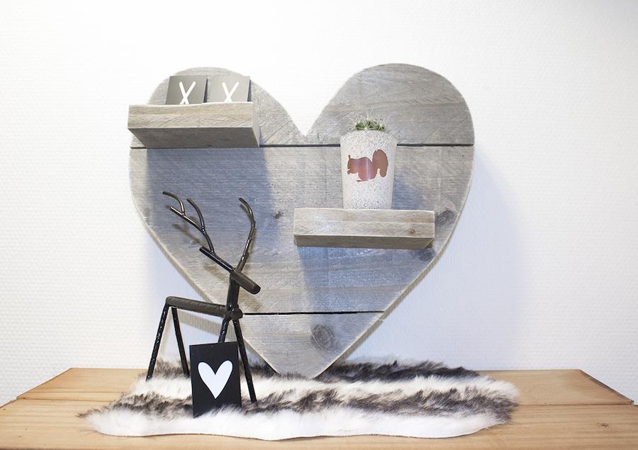 Steigerhouten hart klein