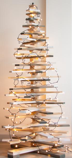 Kerstboom verlichting houten kerstboom