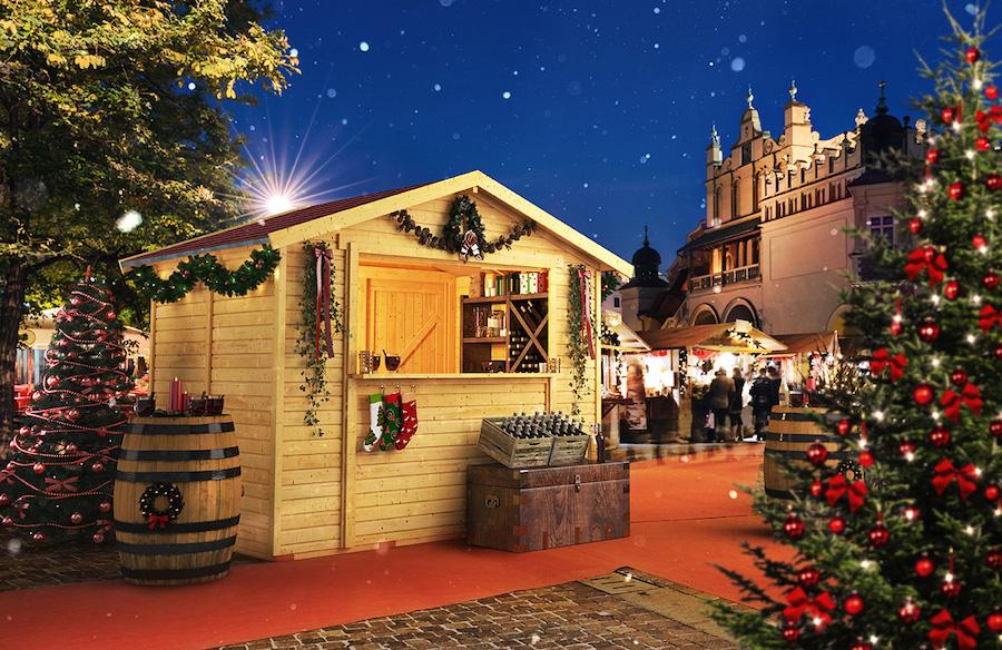 Houten Kerstmarkt kraam