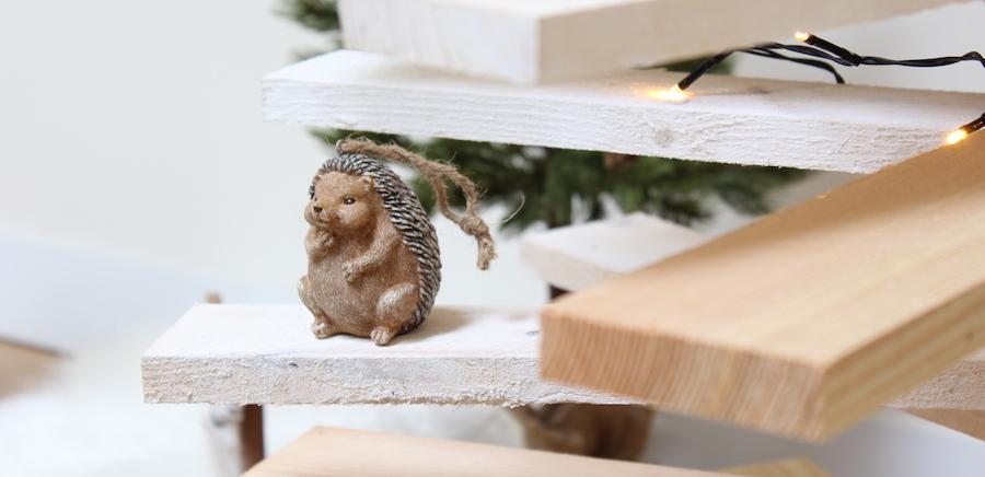 kerstversiering houten kerstboom