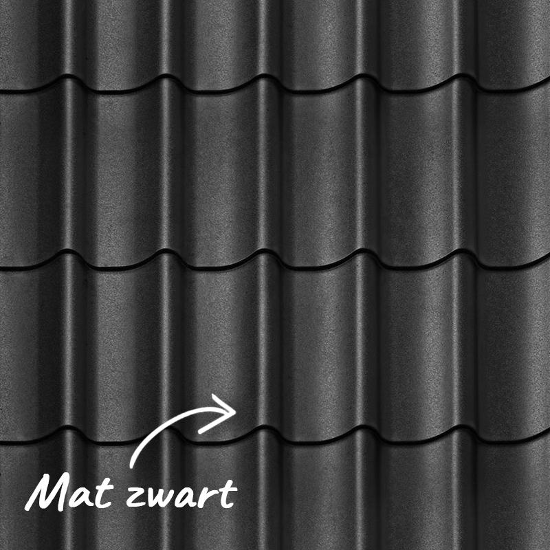 Mat zwart dakpanplaten