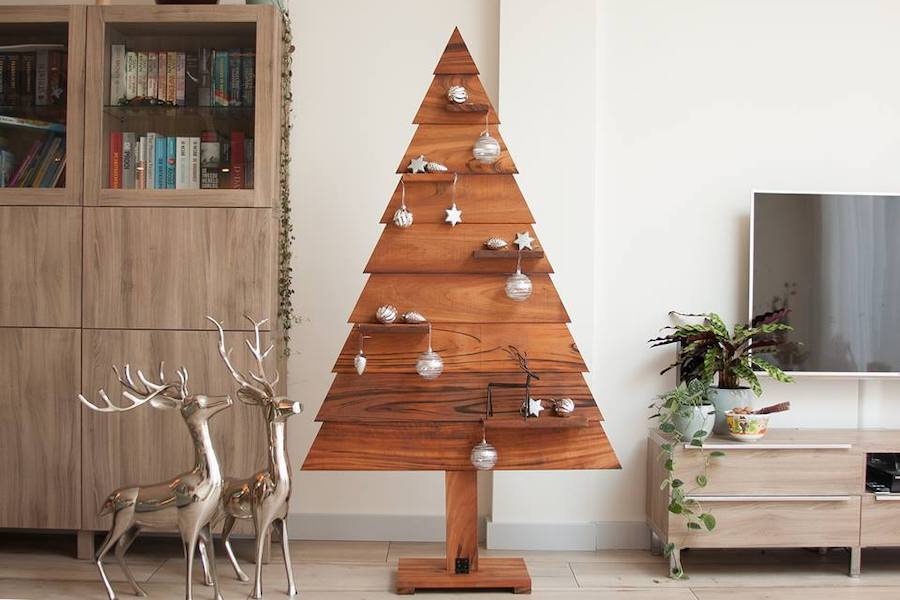 Tigerwood kerstboom