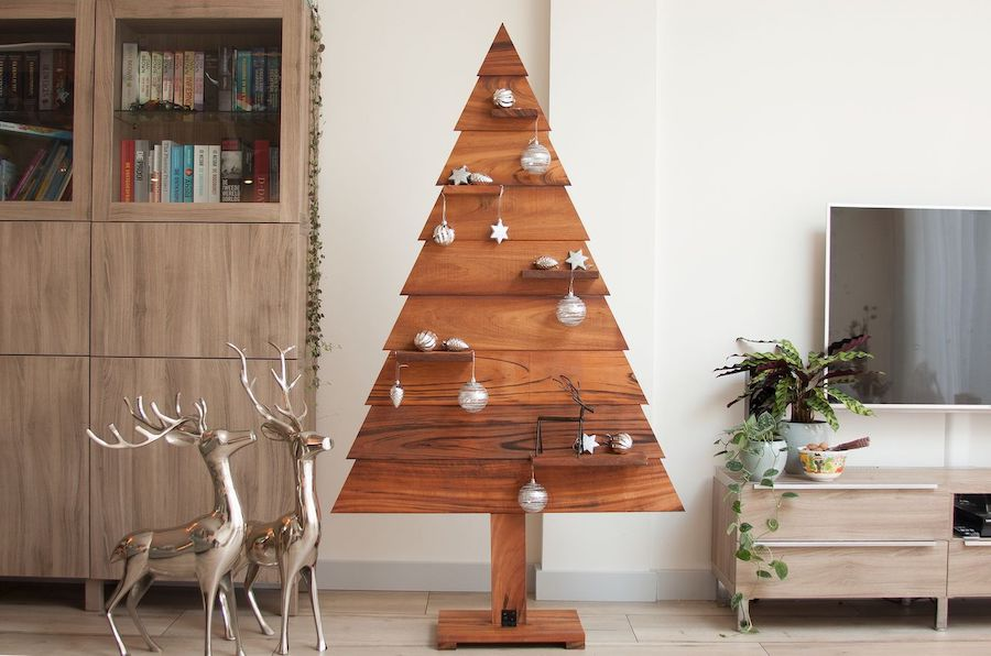 Tigerwood kerstboom rendieren