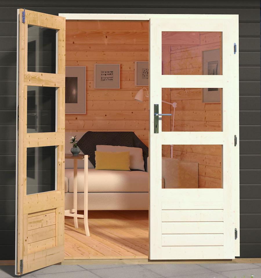 Blokhut dubbele deur