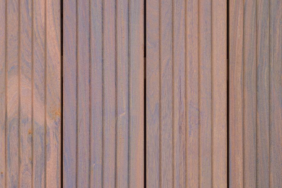 Vlonderplank hardhout met groeven