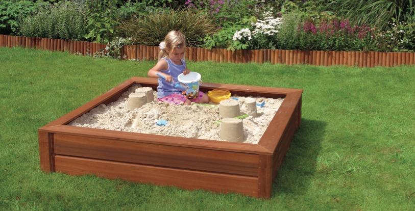 Zandbak hardhout met zand