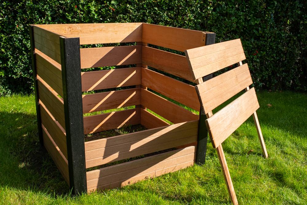 Compostbak met uitneembare voorkant
