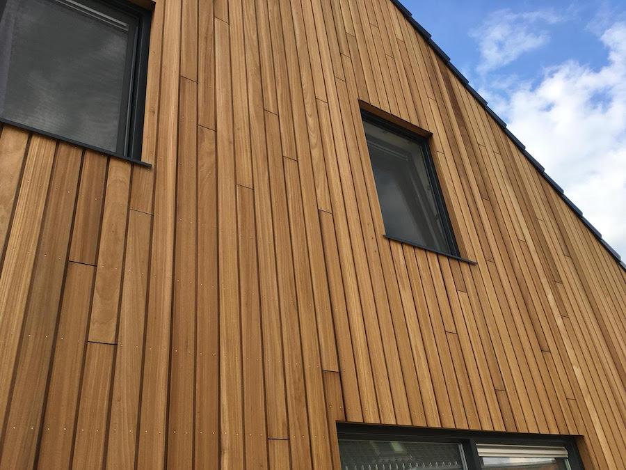 Stülpschalung thermisch modifiziertes Holz Ayous