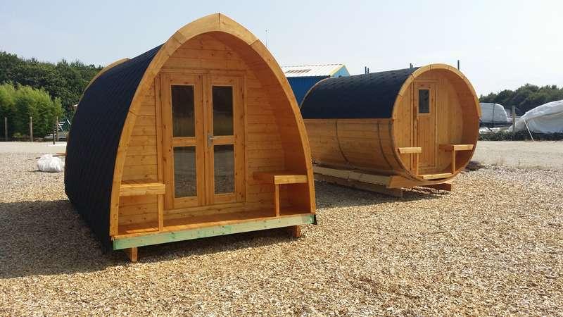 camping pod , sauna