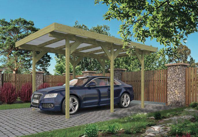 houten carport vrijstaand