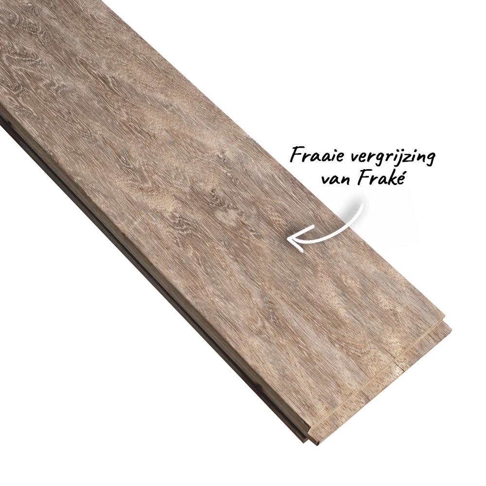 frake hout vergrijsd