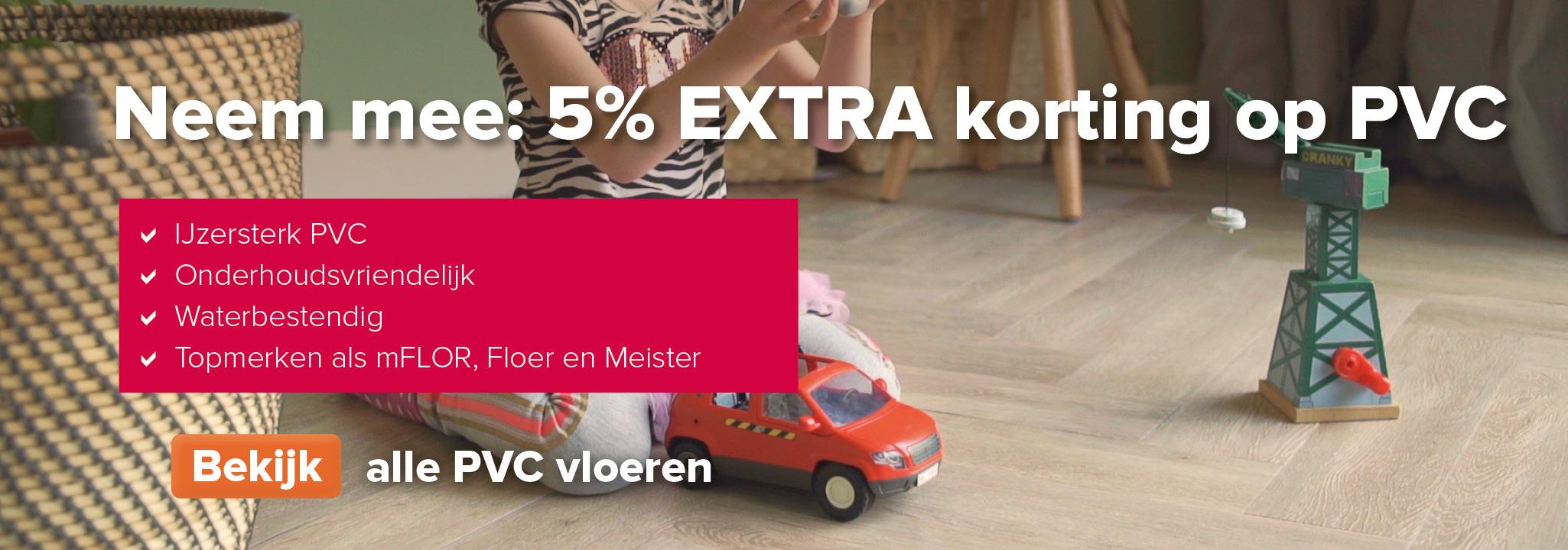 5% extra korting op PVC vloeren