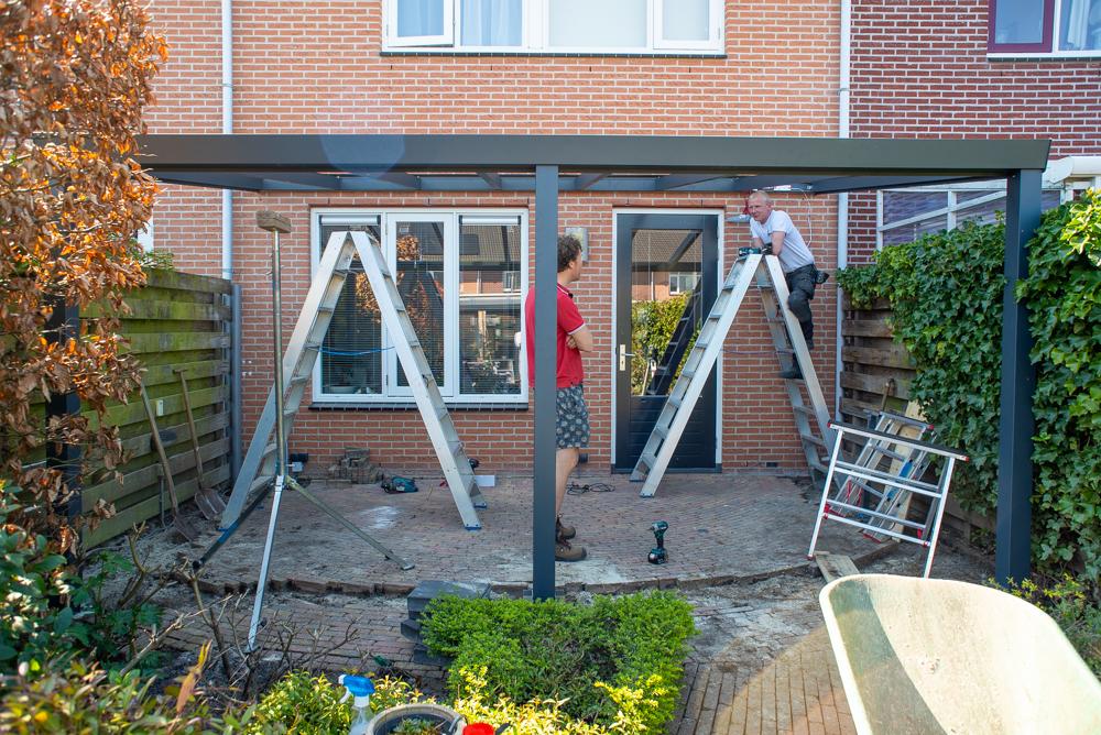 aluminium veranda opbouwen