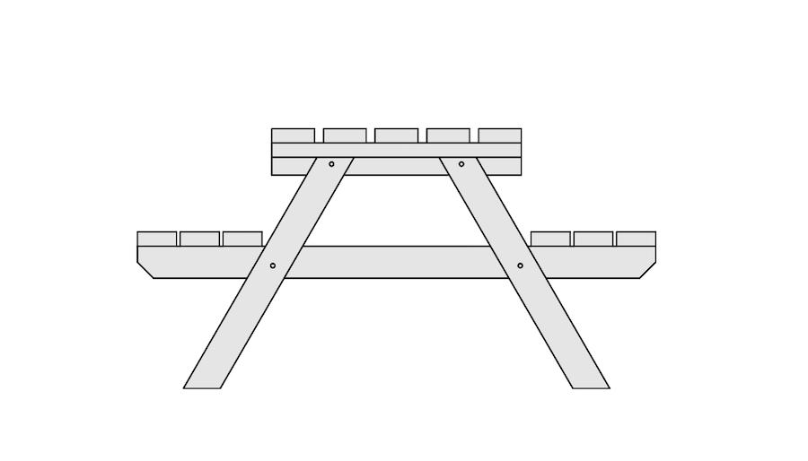 picknicktafel zelf maken deel 6