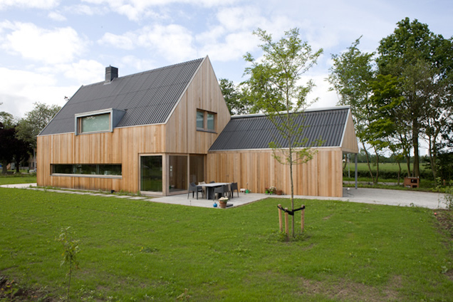 schuurhuis met red cedar fijnbezaagde planken
