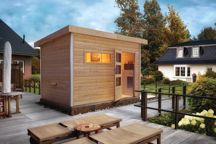Sauna houten huisje