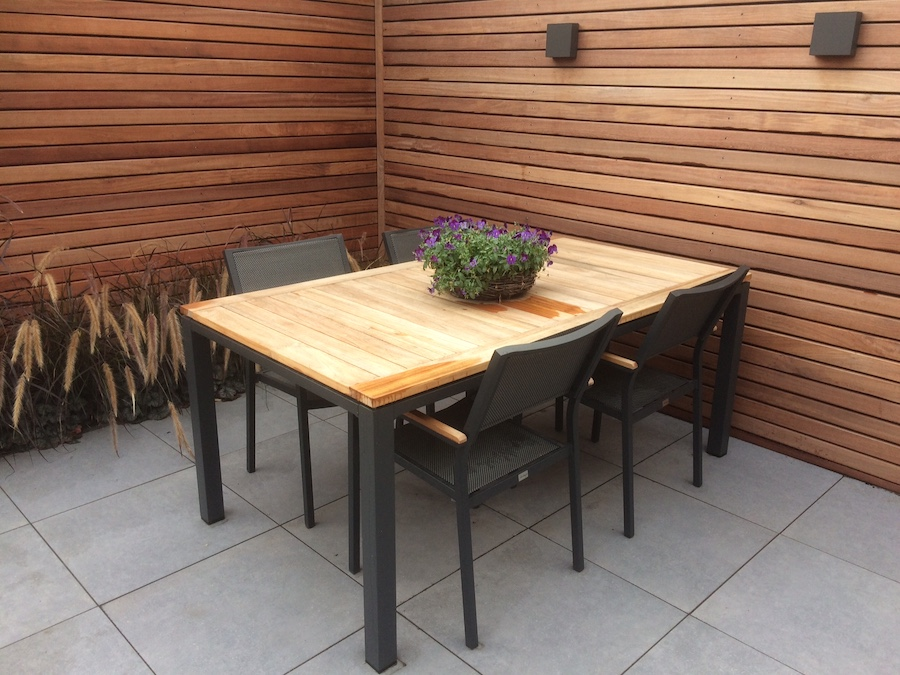 Schutting thermisch gemodificeerd hout duurzaamheidsklasse