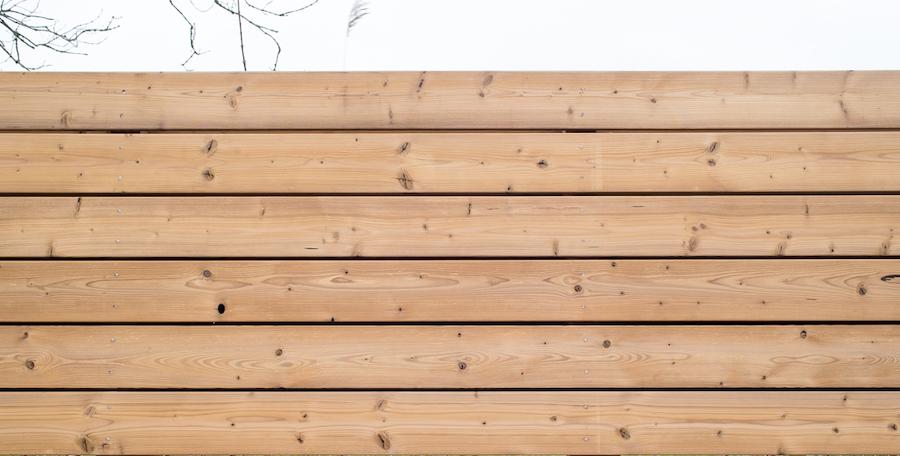 Schutting thermisch gemodificeerd grenenhout