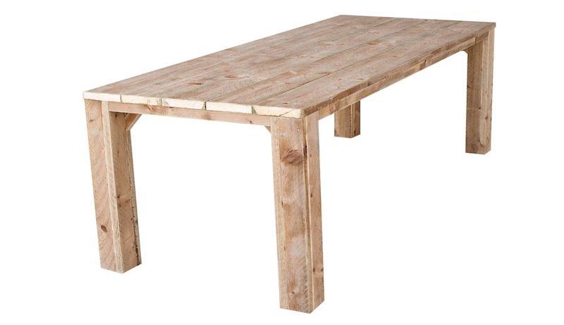 Bruin geimpregneerde steigerhouten tafel