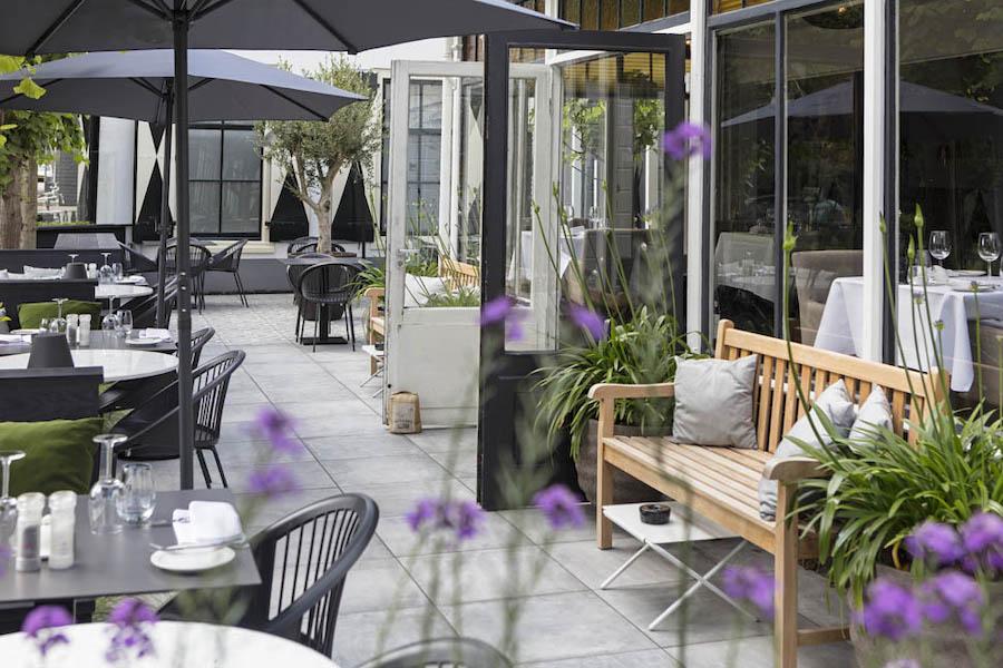 Terras keramische tegels restaurant