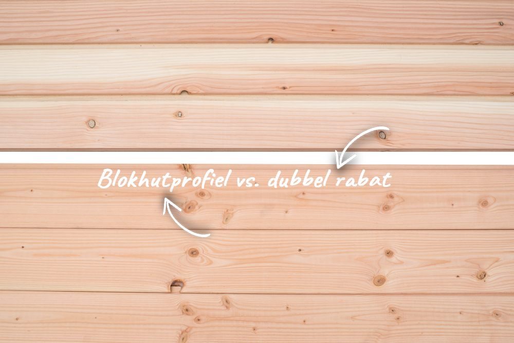 Blokhutprofiel en dubbel rabat