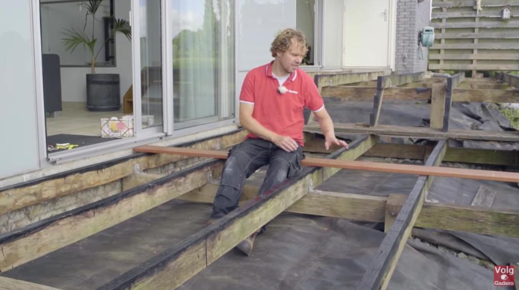 vlonder bouwen 2 lagen balken
