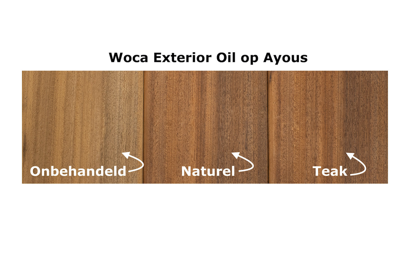 Woca Exterior Oil voor Ayous hout