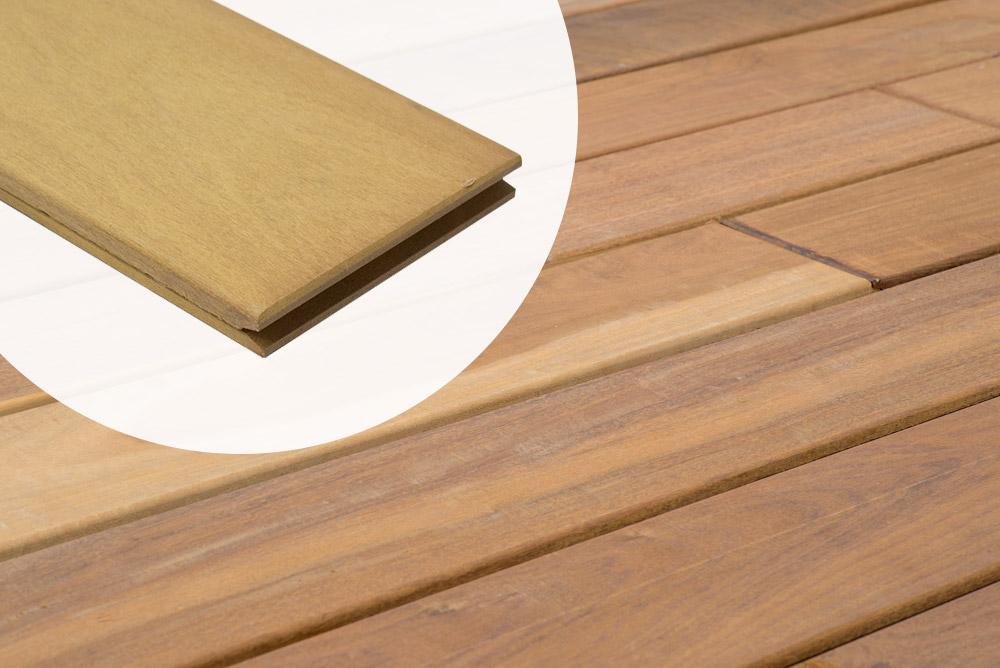 Houten Plank Blind Ophangen.Houten Terrasplanken Voor Clips Vlonderplanken Blinde Montage