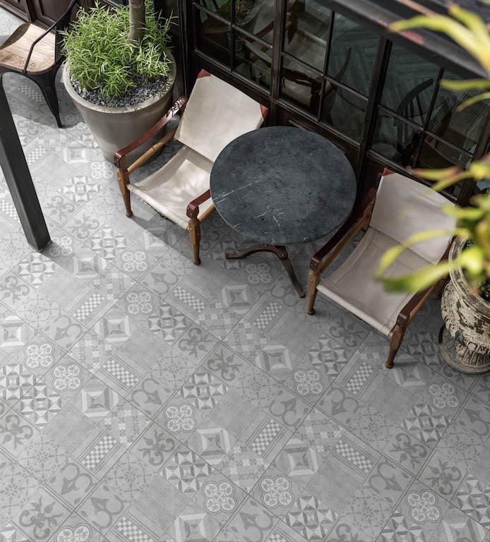 60x60 Tegels Tuin.Terrastegel Geoceramica Mosaik Beige 60 X 60 X 4 Cm