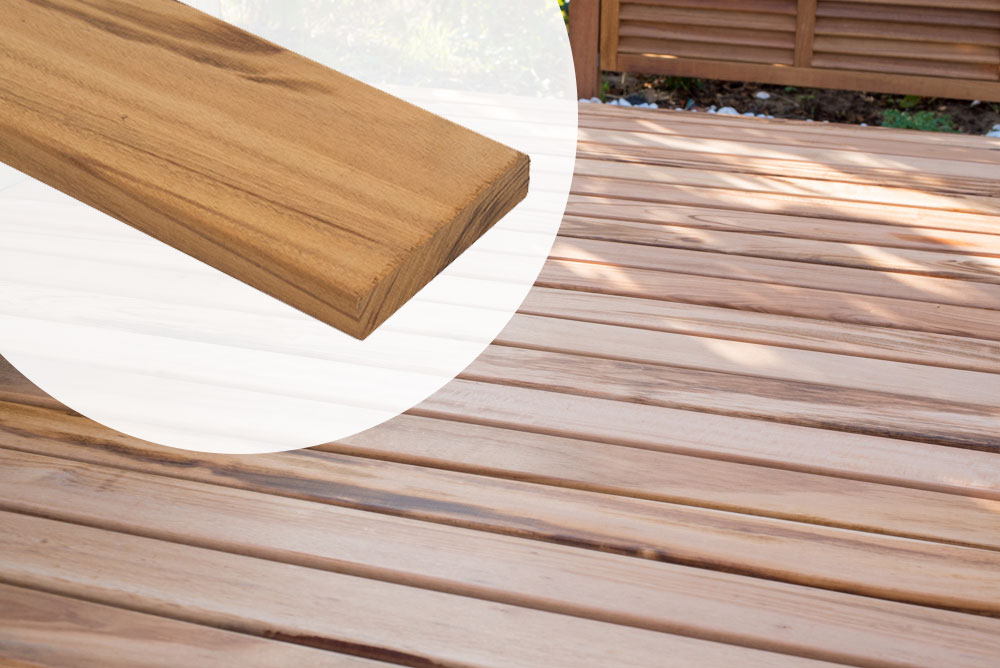 Plank 90 Cm.Plank Tigerwood Hardhout 1 9 X 9 X 90 Cm Vlonderplank