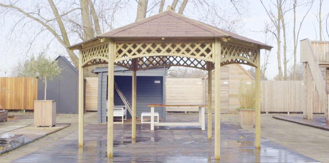 Kiosque de jardin en bois \