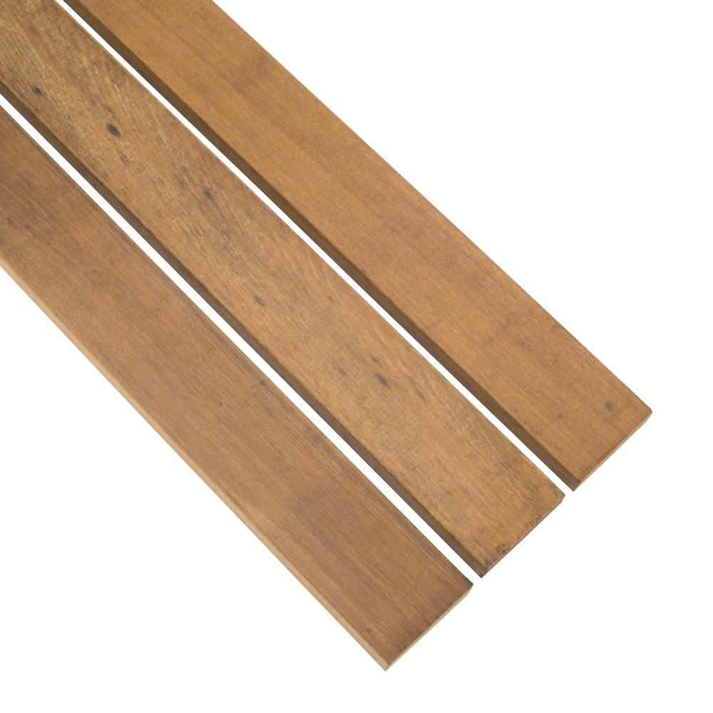 Lames De Bardage Bois Pas Cher lames de terrasse en bois dur 2.1 x 14.5 cm raboté lisse - offre spéciale  lames courtes
