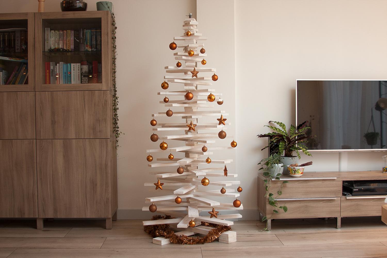 Houten Kerstboom 3d Wit 172 Cm White Wash