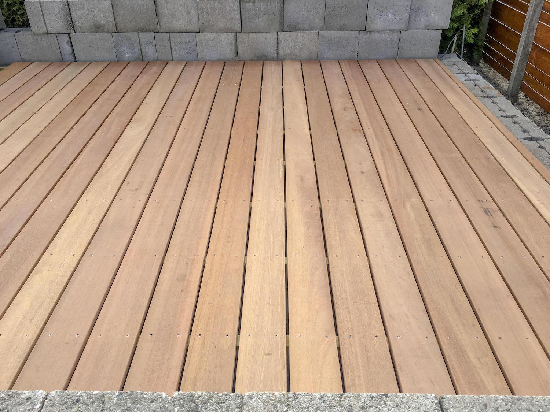 Lames De Terrasse Bois lame de terrasse en bois dur bankirai 2.1 x 14.5 x 275 cm rainuré/lisse