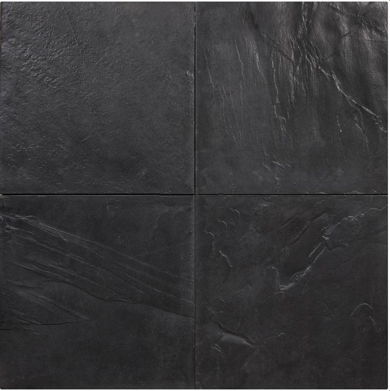 Betontegels 100x100 Antraciet.Betontegel Met Natuursteen Motief Antraciet Zwart 100 X 100 X 5 Cm