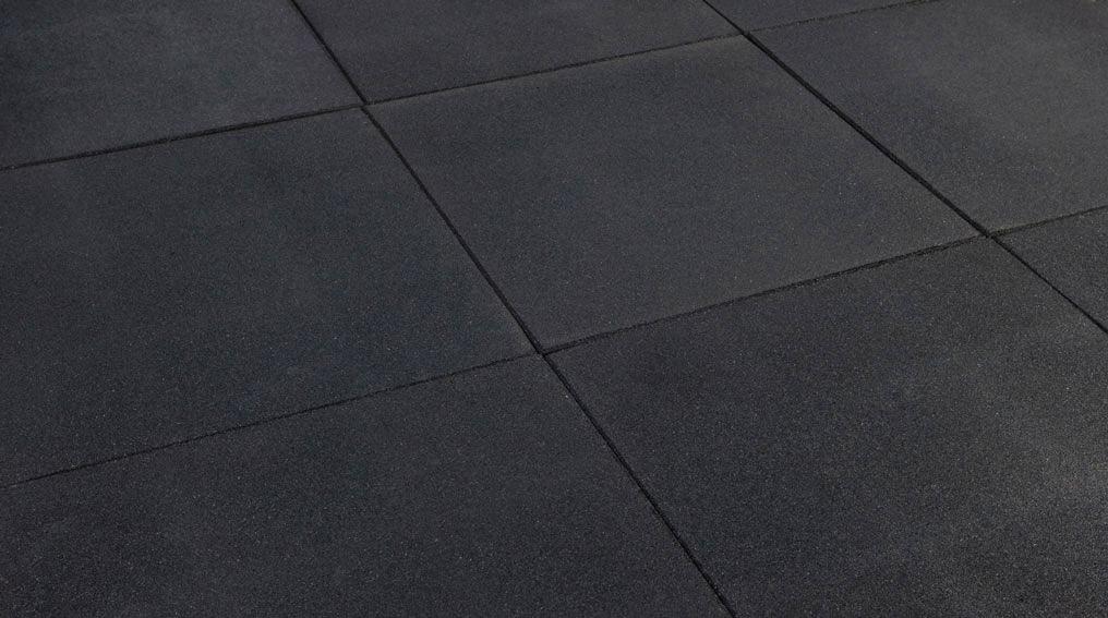 Grote Zwarte Tegels : Rubber tegel 50 x 50 cm gadero