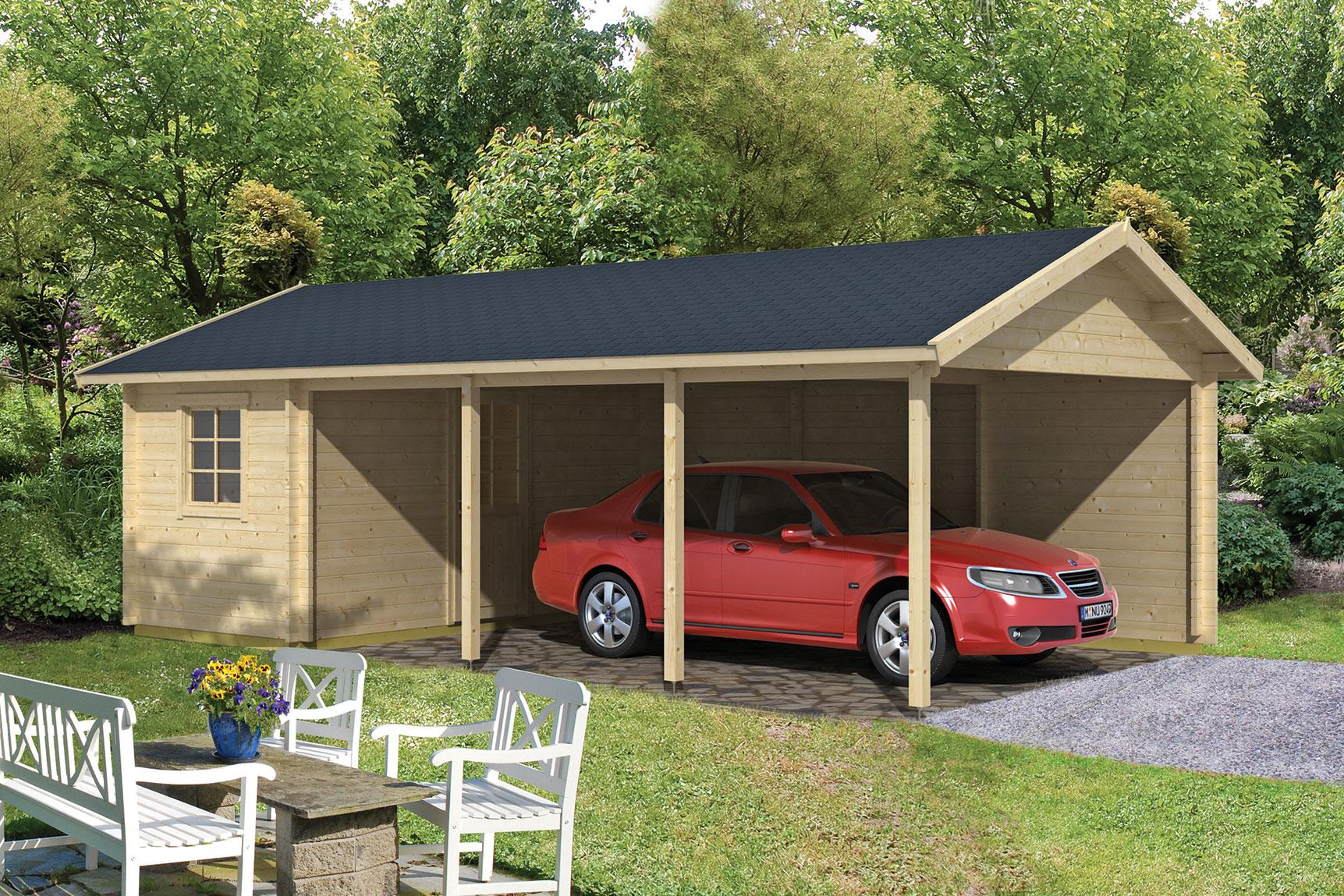 Garage Met Carport : Houten carport enkhuizen met schuur cm gadero