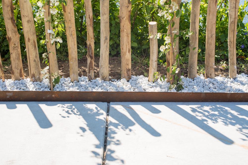 Borderrand corten staal 0.3 x 15 x 230 cm metalen kantopsluiting