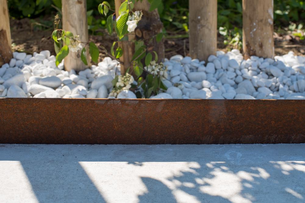 Borderrand corten staal 0.3 x 15 x 250 cm metalen kantafsluiting