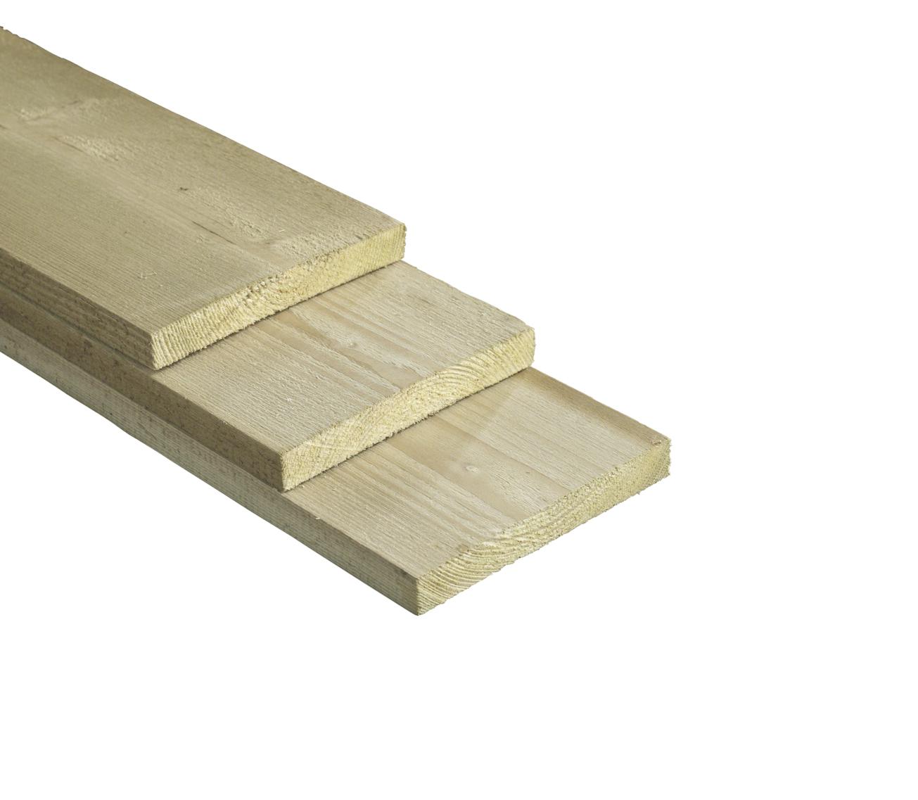 Wandplank 60 Cm Breed.Fijnbezaagde Plank Naaldhout Geimpregneerd 2 Cm Dik