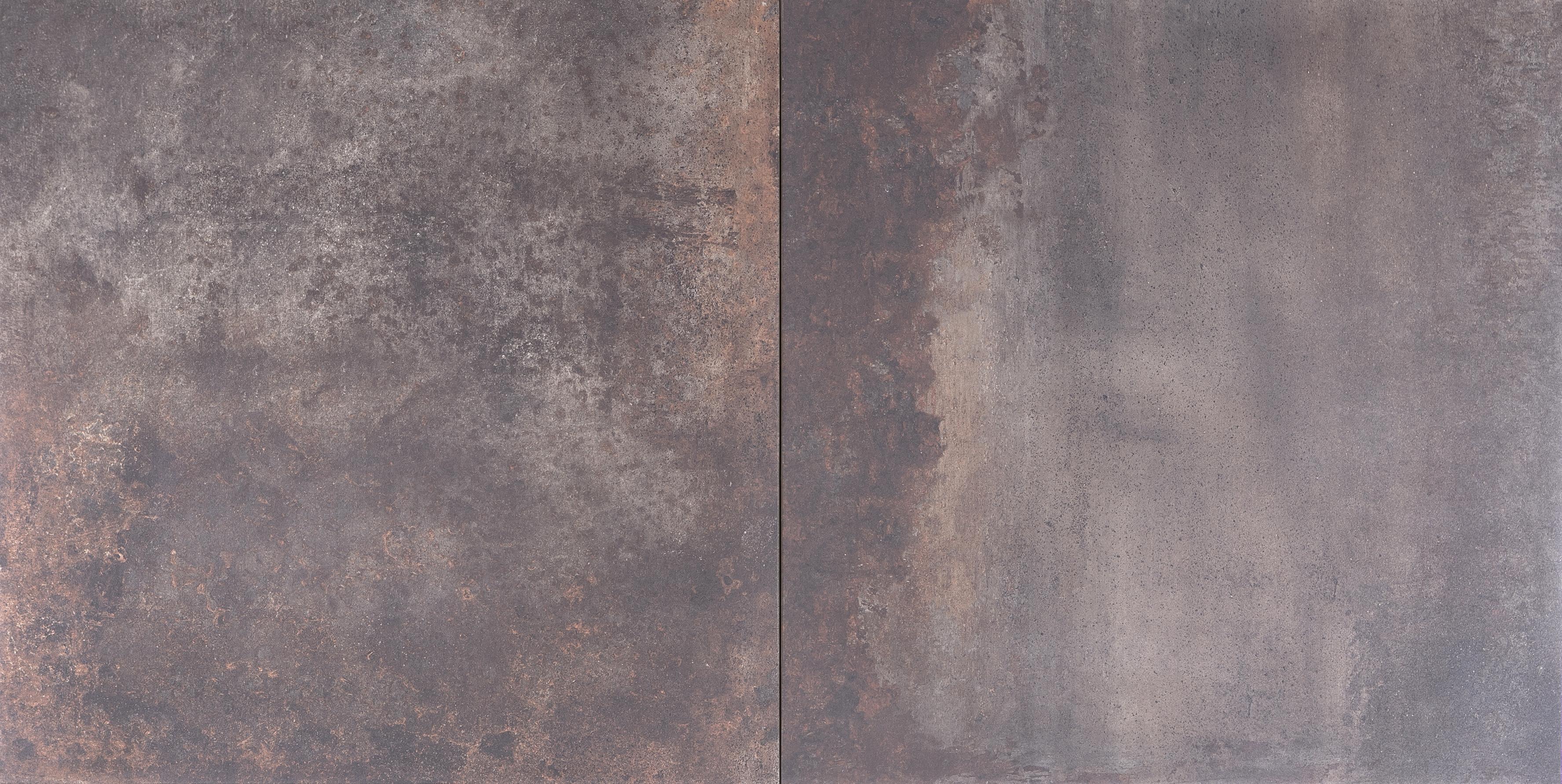 Keramische Tuintegel 80x80.Geoceramica Corten Steel Keramische Tegel 80x80 Dikte 4 Cm