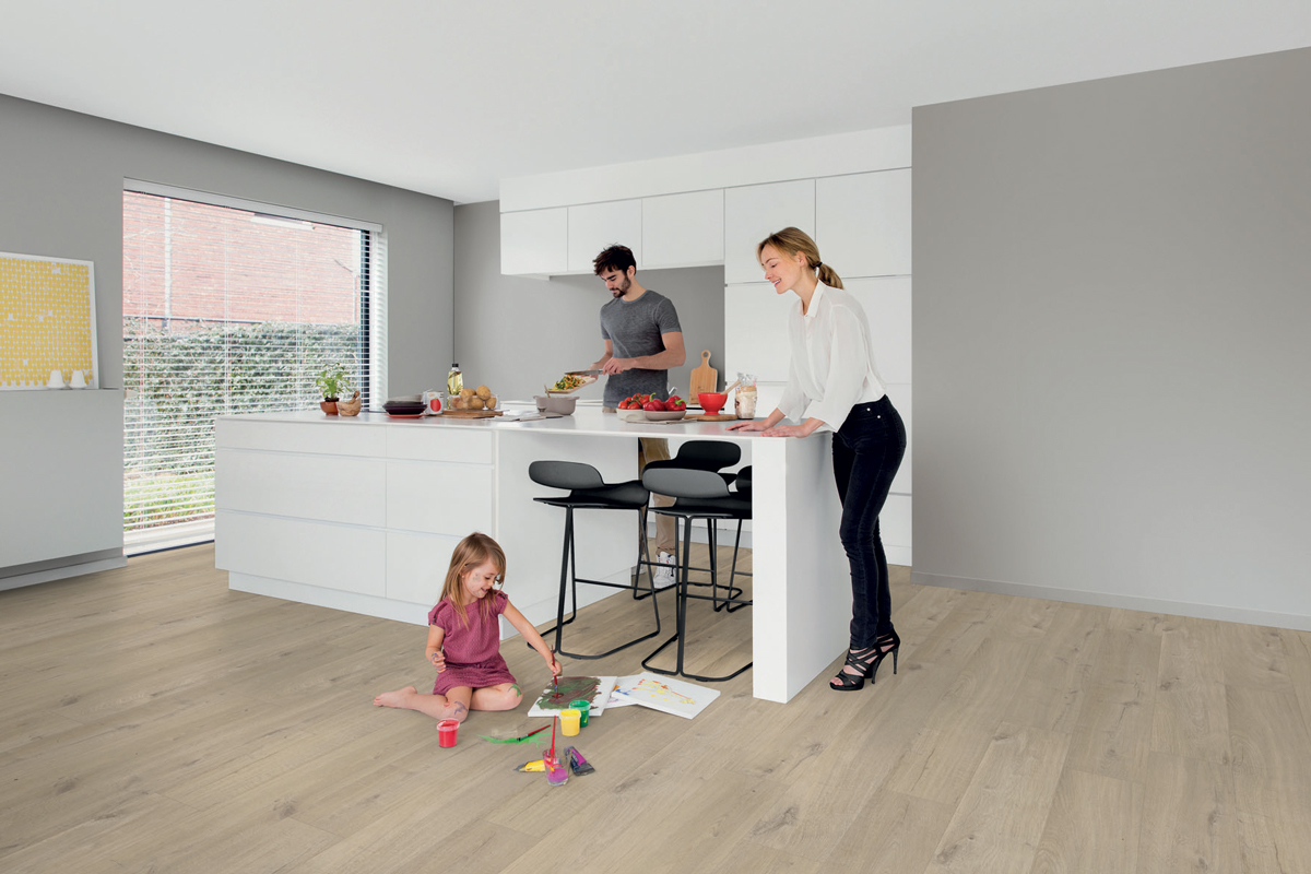 quick step livyn pulse click katoen eik beige pucl40103 vinyl. Black Bedroom Furniture Sets. Home Design Ideas