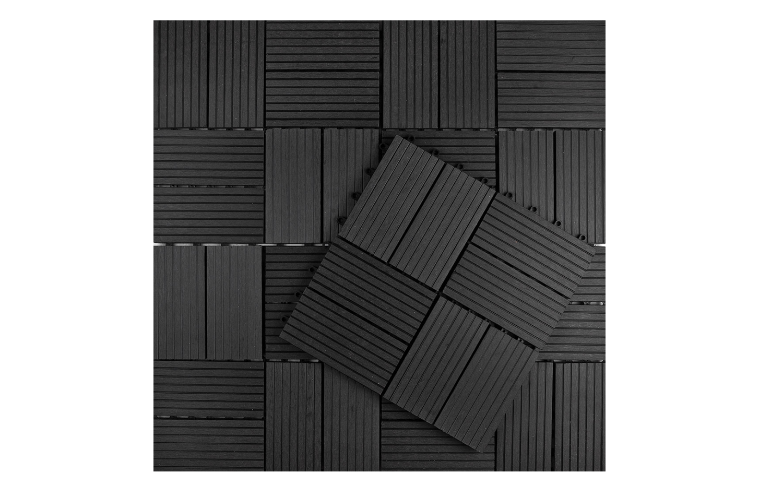 Kunststof Tegels Tuin.Tuintegel Composiet Antraciet 30 X 30 Cm