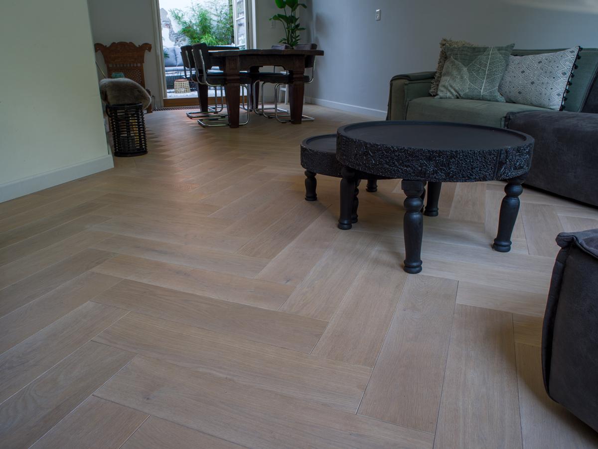 Visgraat vloer hout vloerverwarming houten vloeren