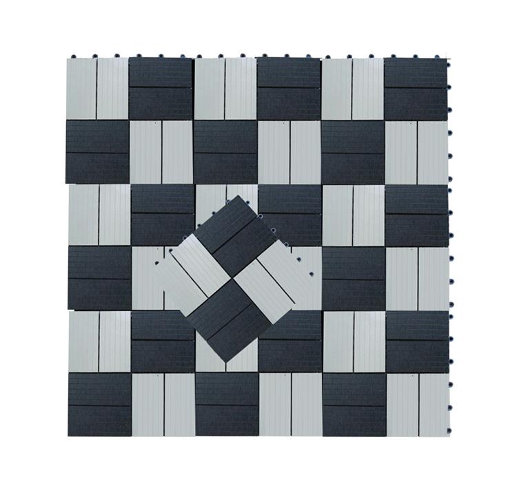 Zwart Wit Tegels.Tuintegel Composiet Zwart Wit 30 X 30 Cm
