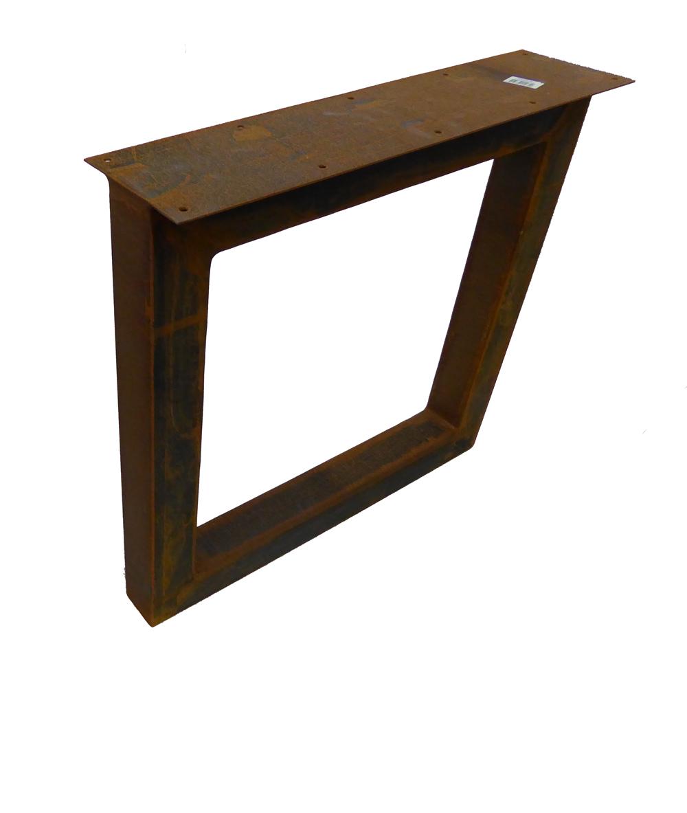 Tafel Met Poten.Tafel Onderstel Corten Staal 8 X 70 X 75 Cm Set Van 2