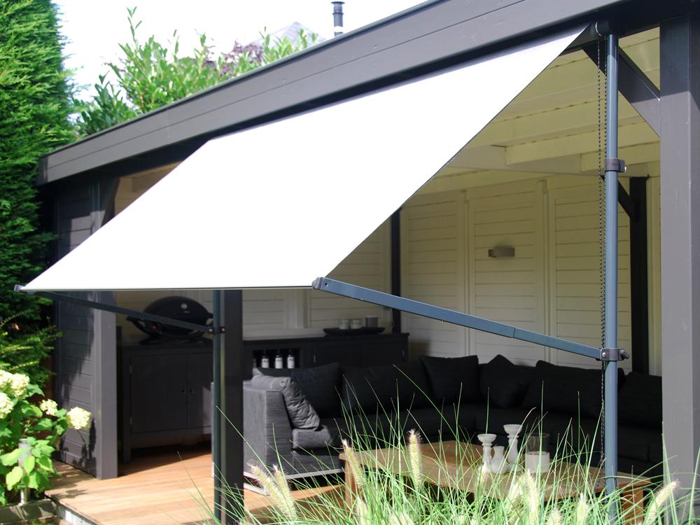 Zonnescherm Op Palen : Flex frame balkon zonnescherm nesling