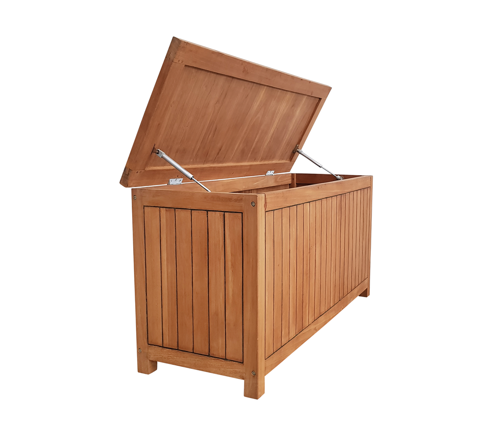 Houten Tuinkussen Opbergbox.Luxe Tuinkist Hardhout 160 X 80 X 80 Cm Teak Geschaafd